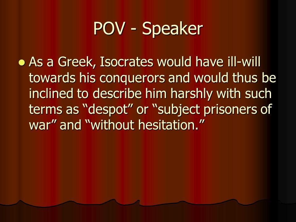 POV - Speaker