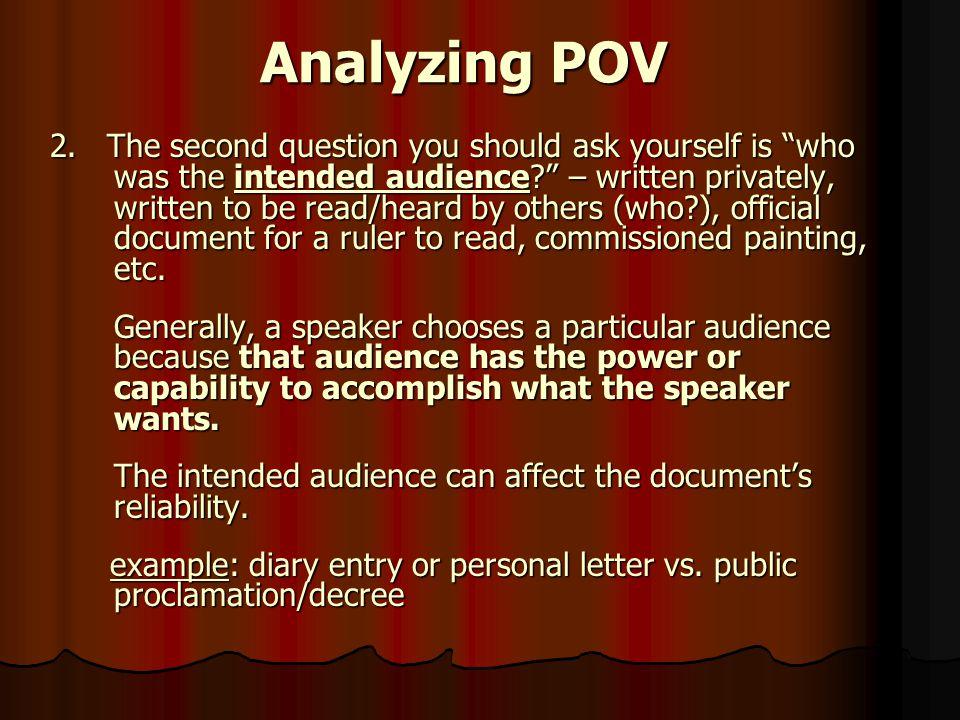 Analyzing POV