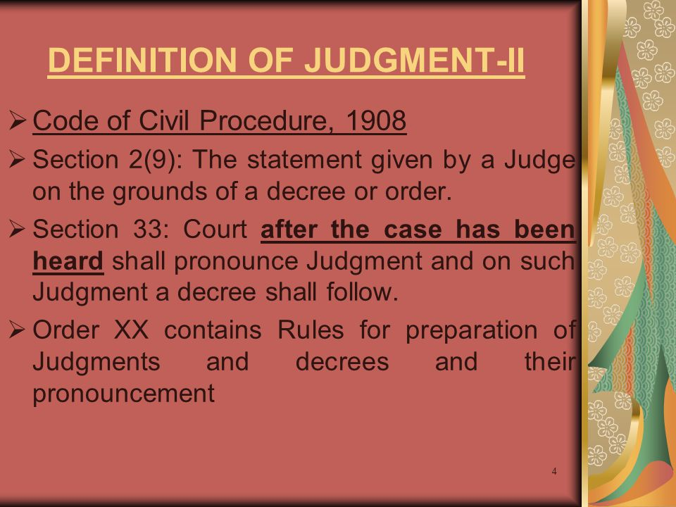 DEFINITION OF JUDGMENT-II