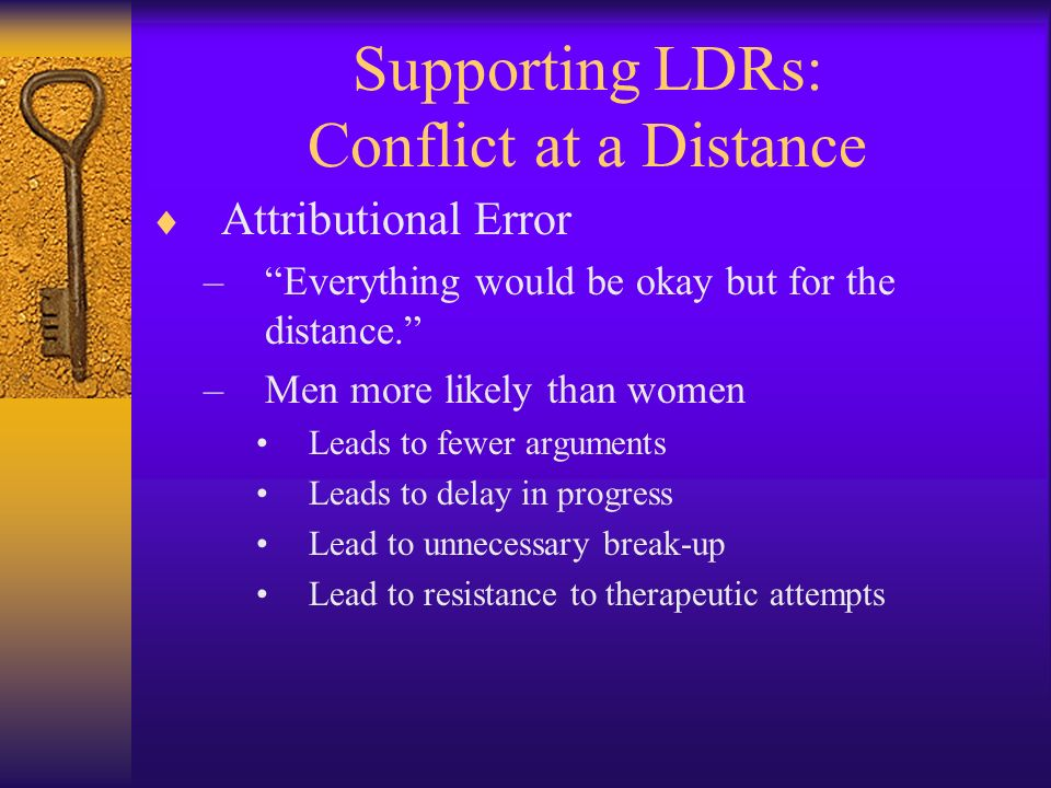 Supporting LDRs: Conflict at a Distance