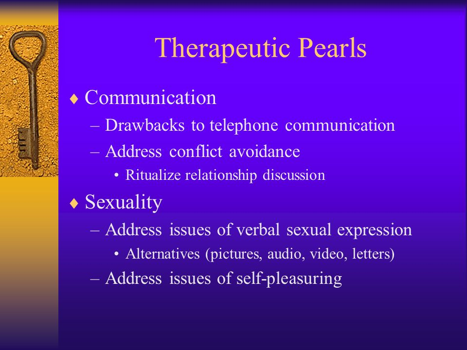 Therapeutic Pearls Communication Sexuality