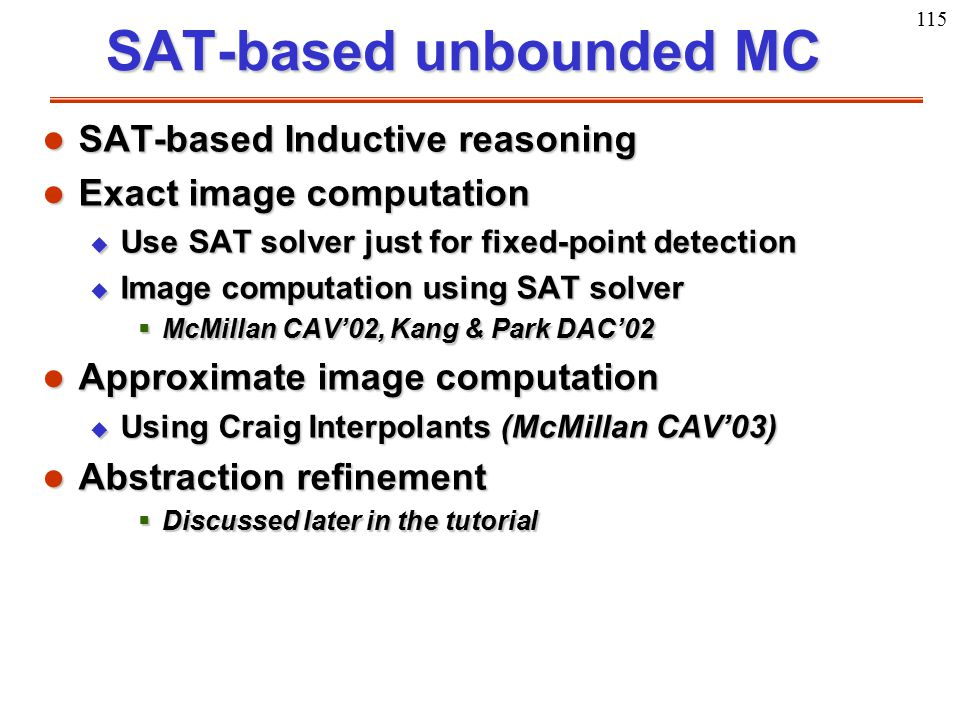 SAT-based unbounded MC