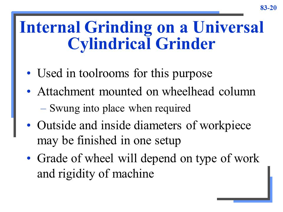 Internal Grinding on a Universal Cylindrical Grinder