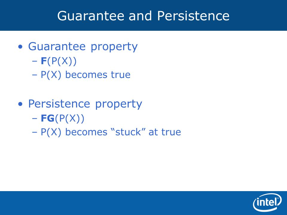 Guarantee and Persistence