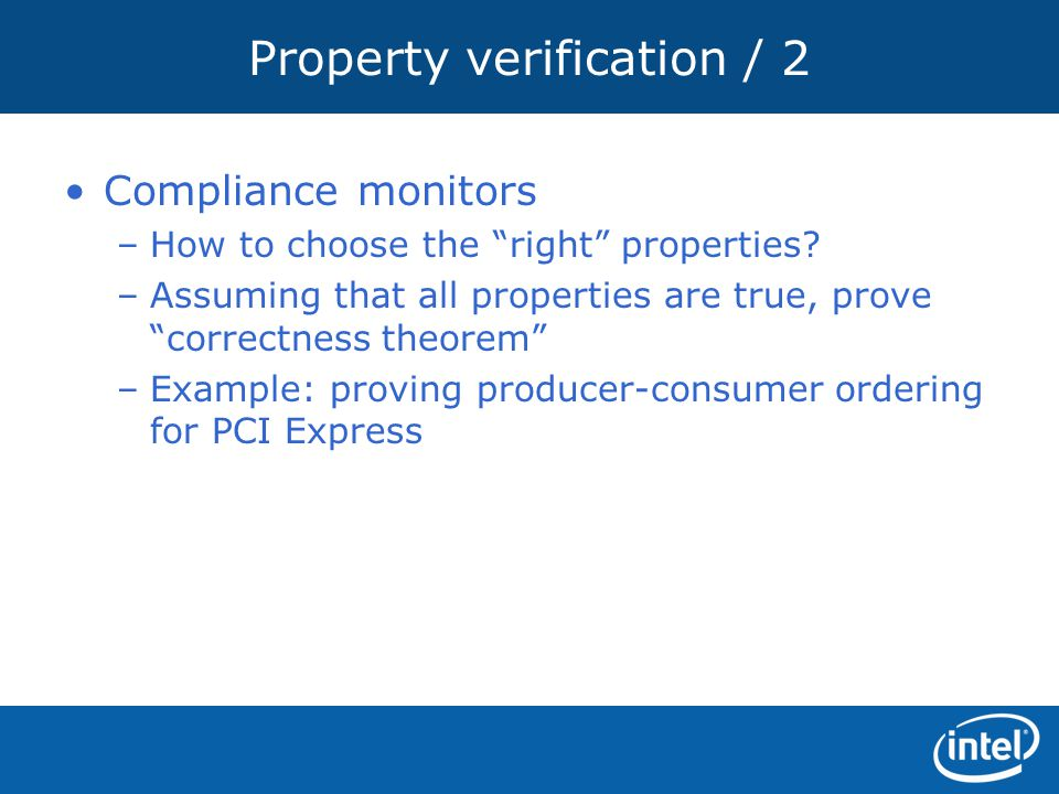 Property verification / 2