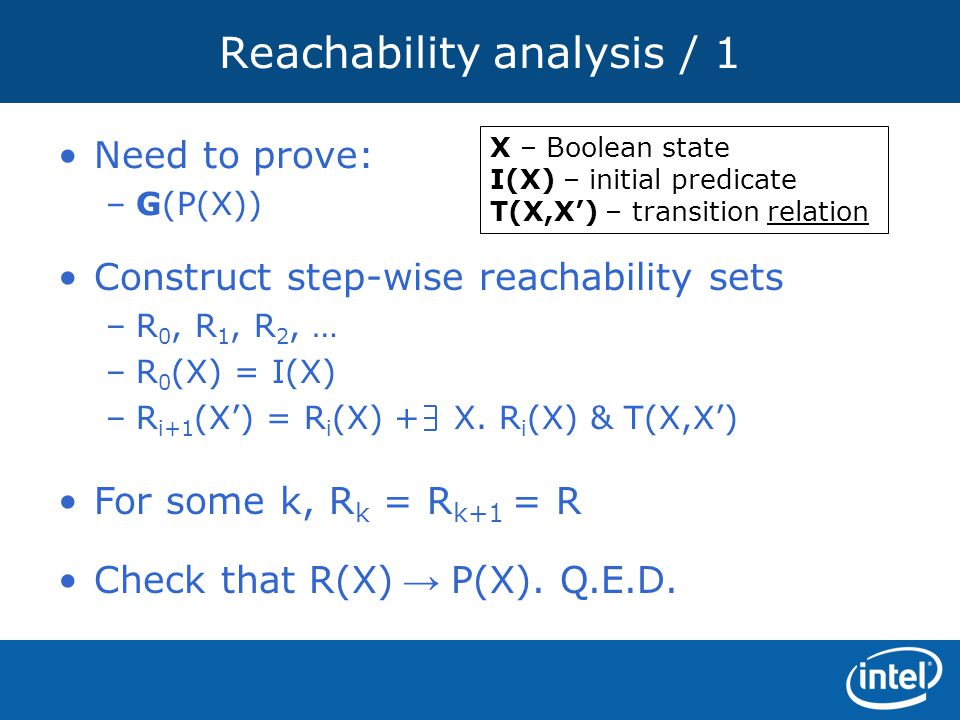 Reachability analysis / 1