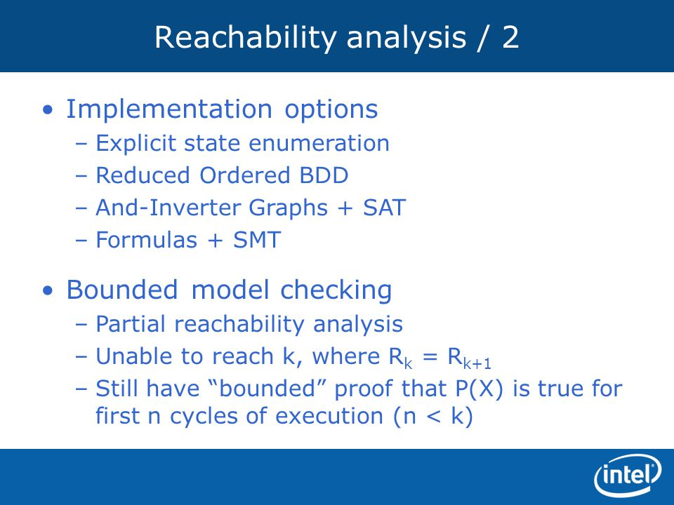 Reachability analysis / 2
