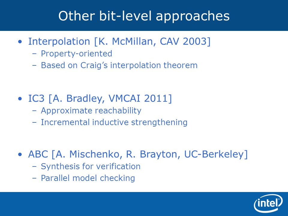 Other bit-level approaches