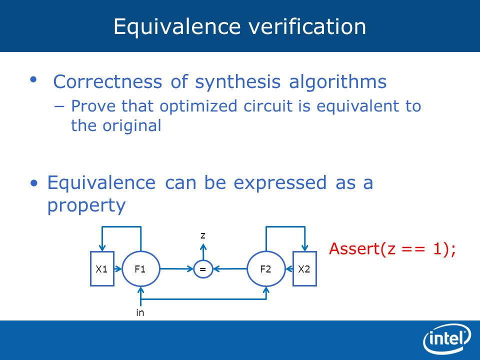 Equivalence verification