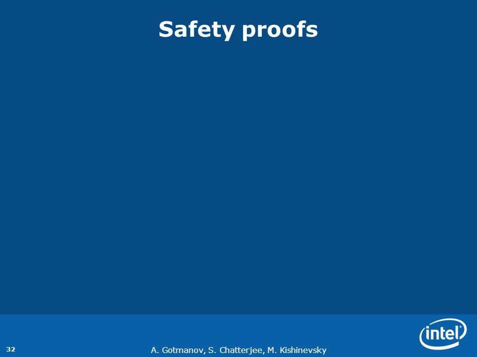 Safety proofs