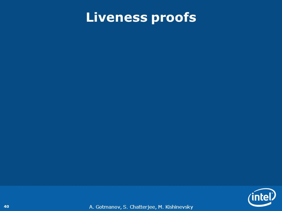 Liveness proofs