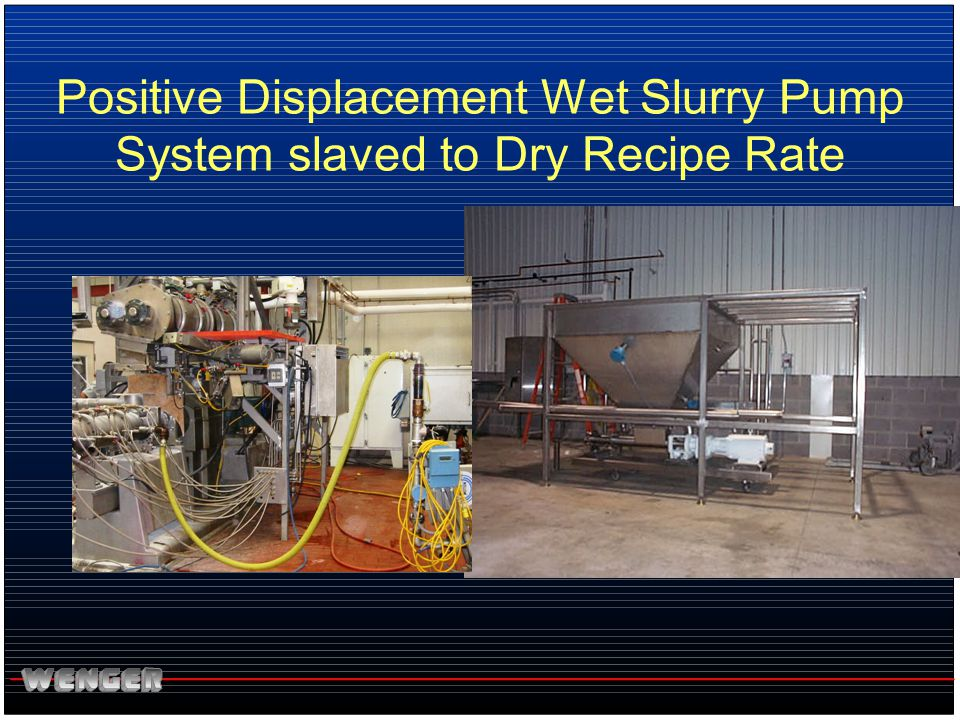 Positive Displacement Wet Slurry Pump System slaved to Dry Recipe Rate