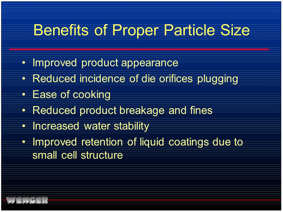 Benefits of Proper Particle Size