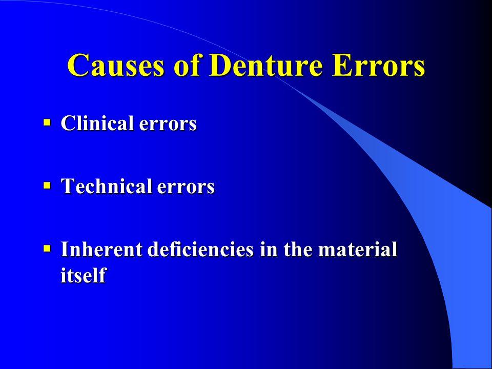 Causes of Denture Errors
