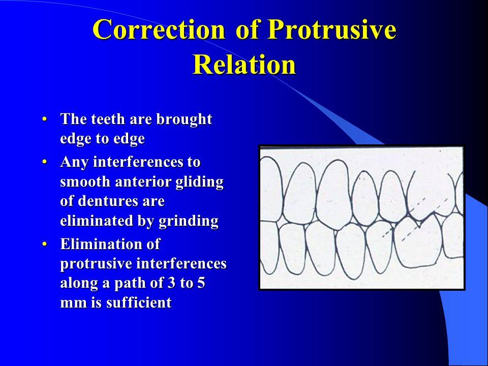Correction of Protrusive Relation