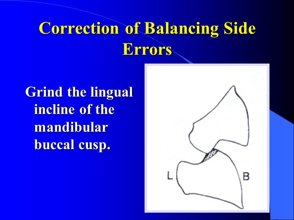 Correction of Balancing Side Errors