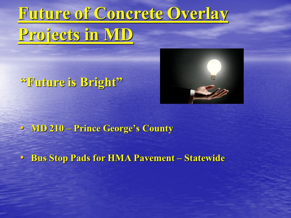 Future of Concrete Overlay Projects in MD
