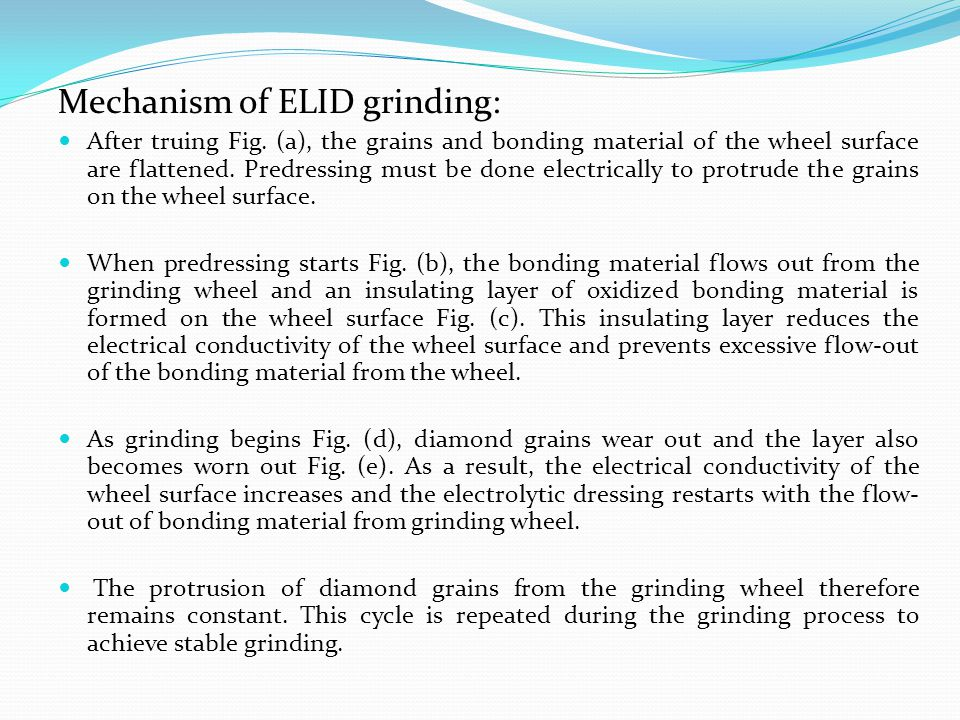 Mechanism of ELID grinding: