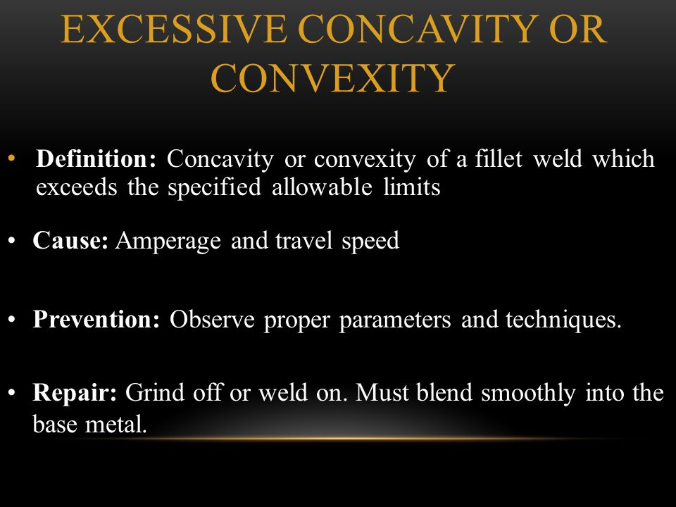 Excessive Concavity or Convexity
