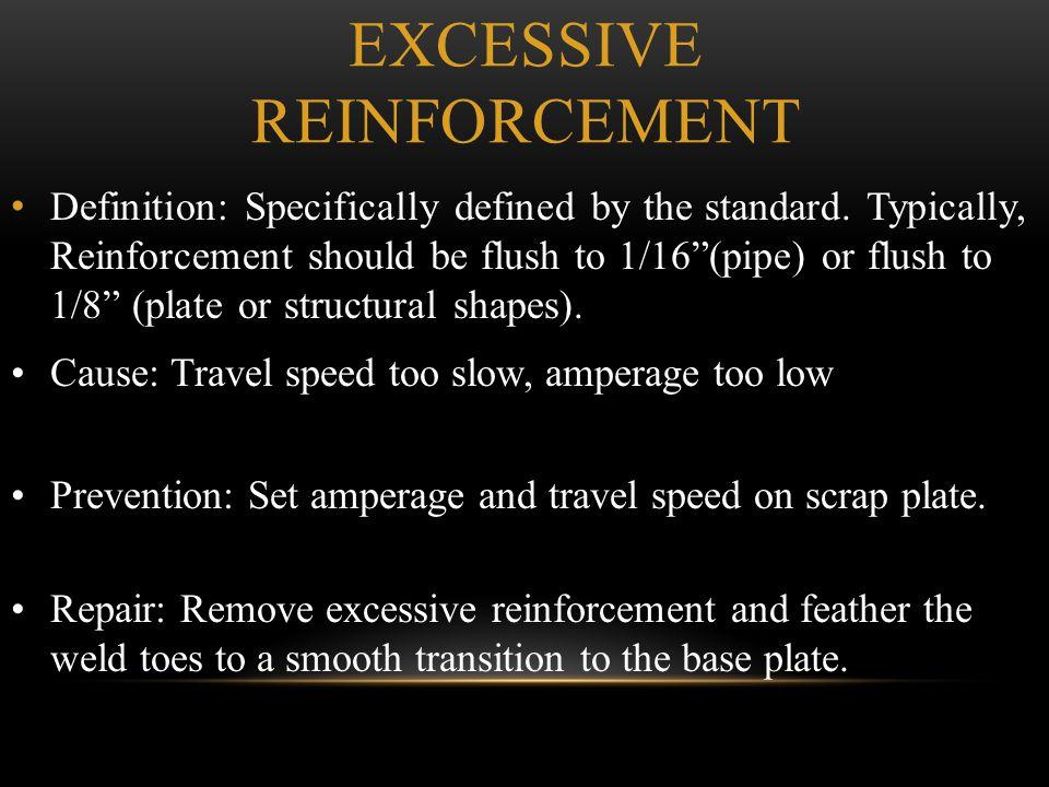 Excessive Reinforcement