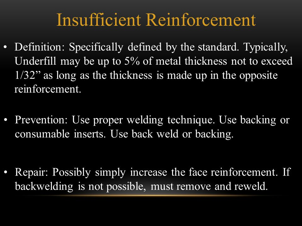 Insufficient Reinforcement