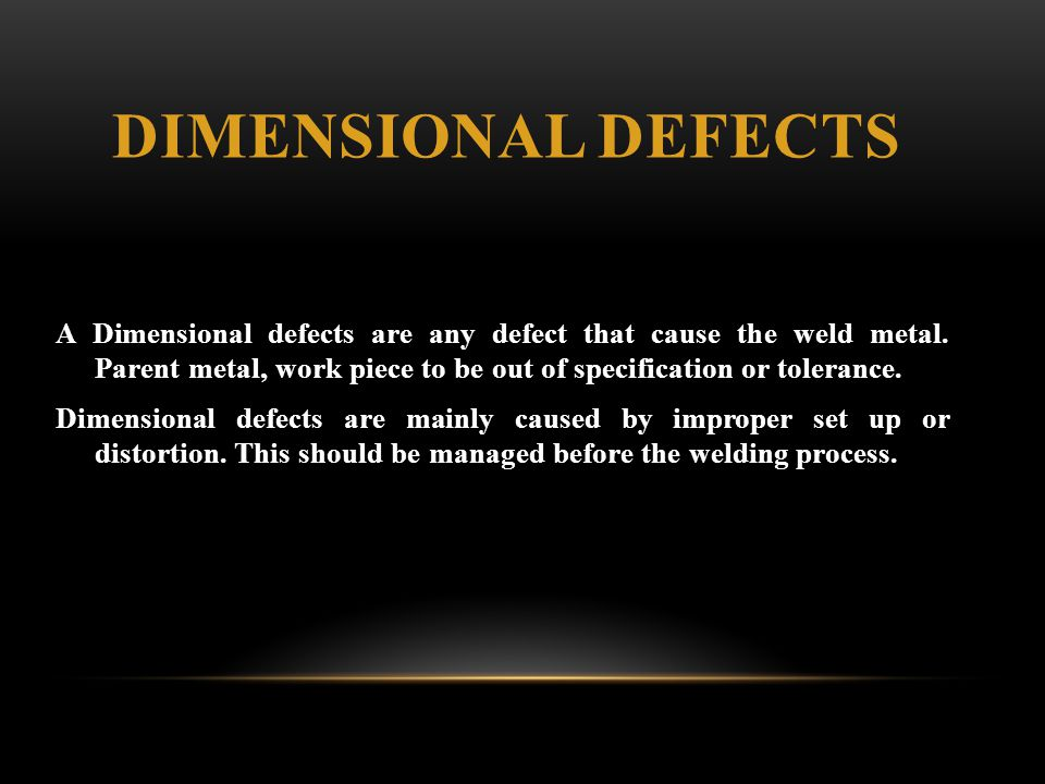 Dimensional Defects
