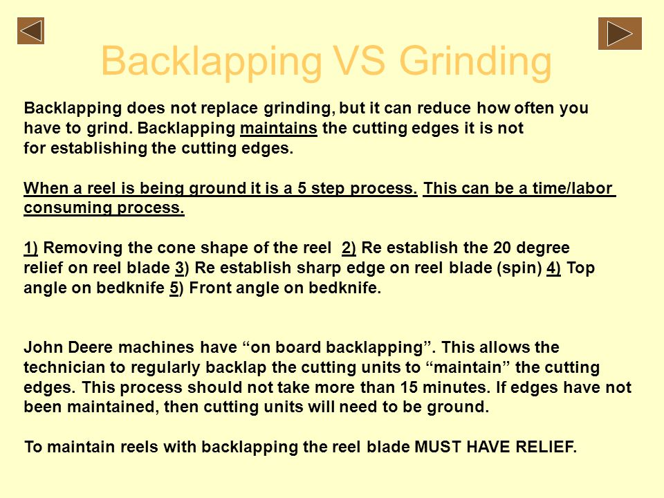 Backlapping VS Grinding