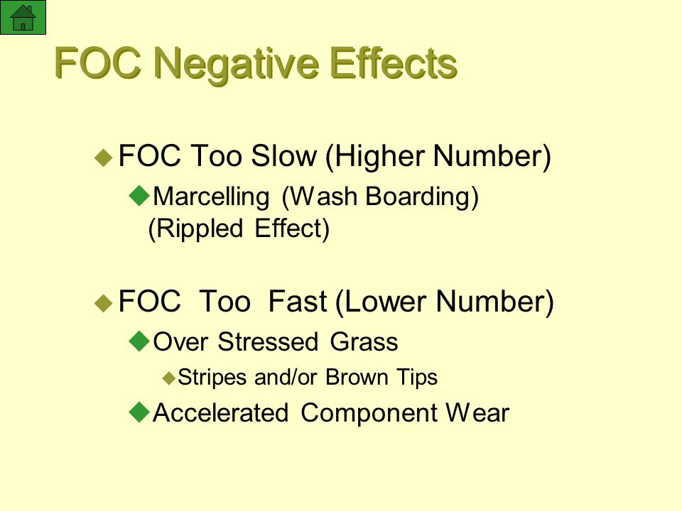 FOC Negative Effects FOC Too Slow (Higher Number)