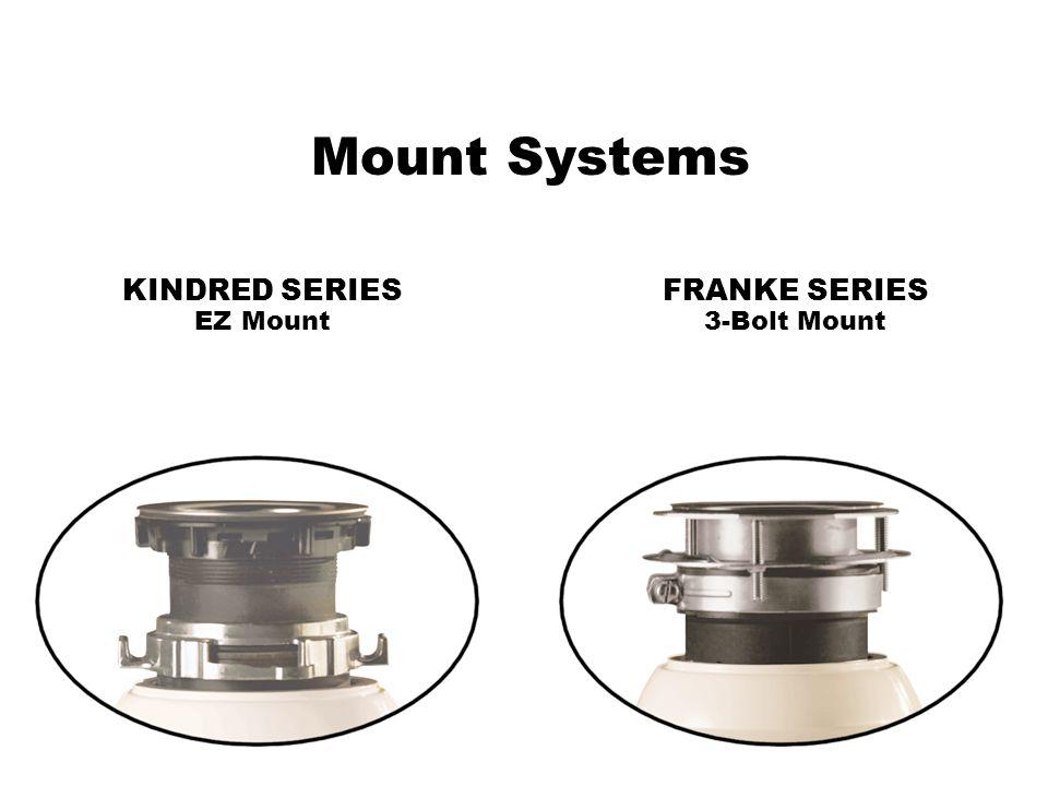 Mount Systems KINDRED SERIES EZ Mount FRANKE SERIES 3-Bolt Mount