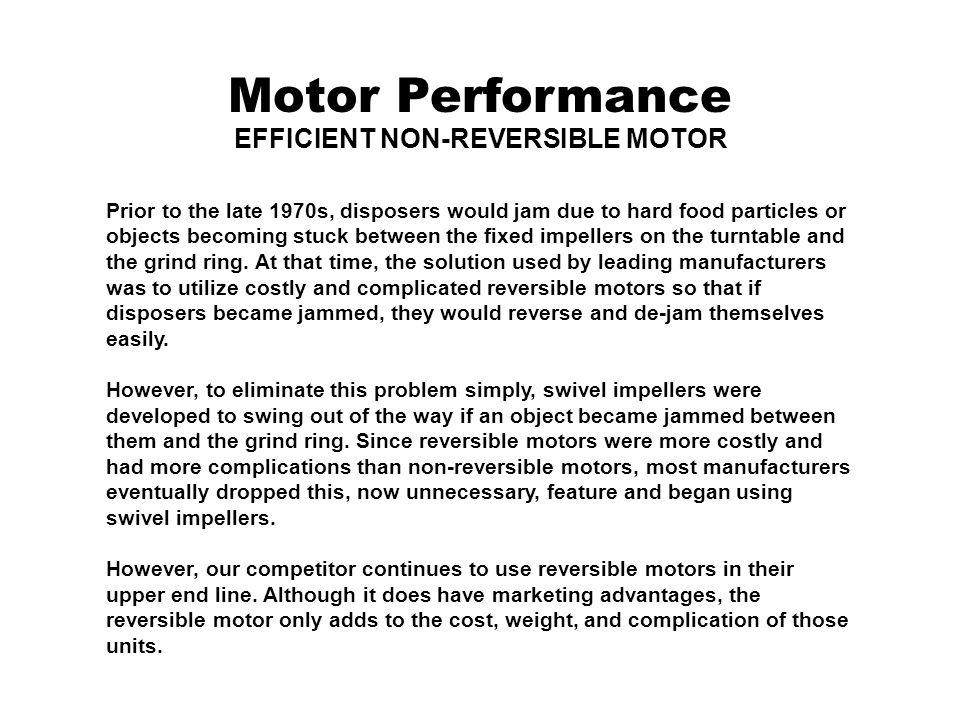 EFFICIENT NON-REVERSIBLE MOTOR