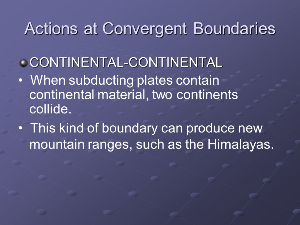 Actions at Convergent Boundaries