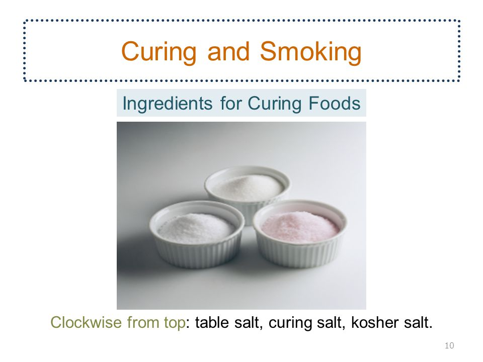 Curing and Smoking Ingredients for Curing Foods