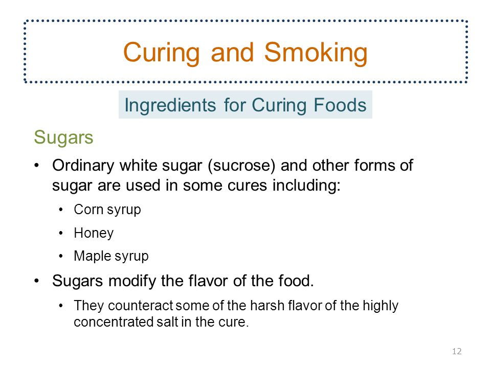Ingredients for Curing Foods
