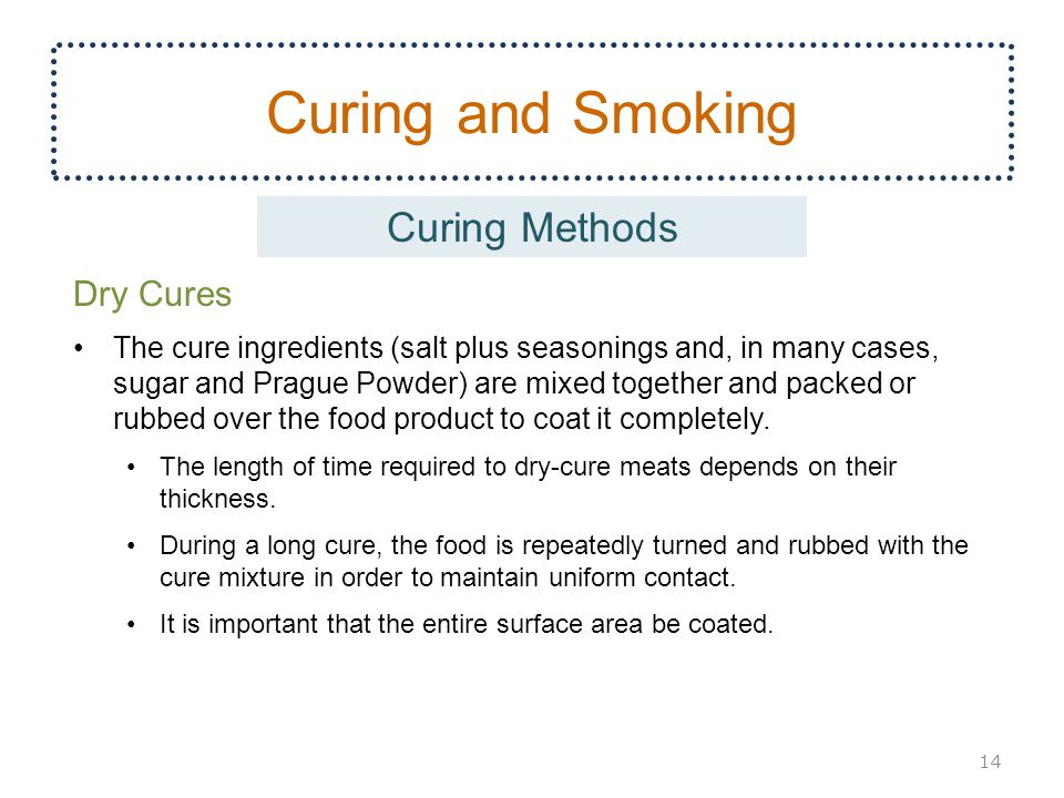 Curing and Smoking Curing Methods Dry Cures