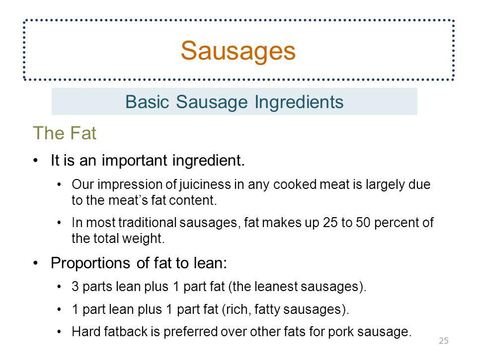 Basic Sausage Ingredients