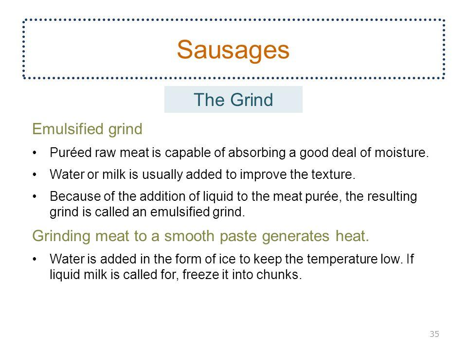 Sausages The Grind Emulsified grind