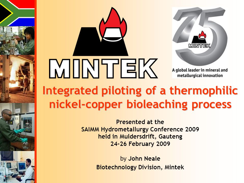 Integrated piloting of a thermophilic nickel-copper bioleaching process