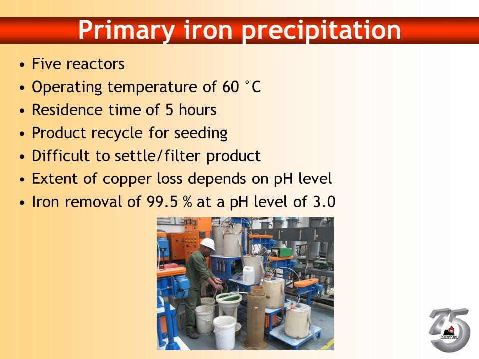 Primary iron precipitation