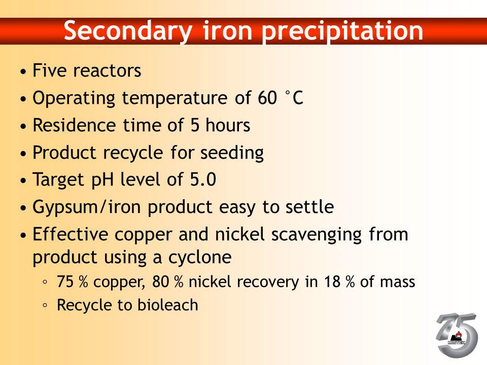 Secondary iron precipitation