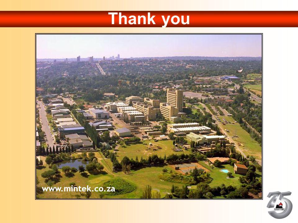 Thank you www.mintek.co.za