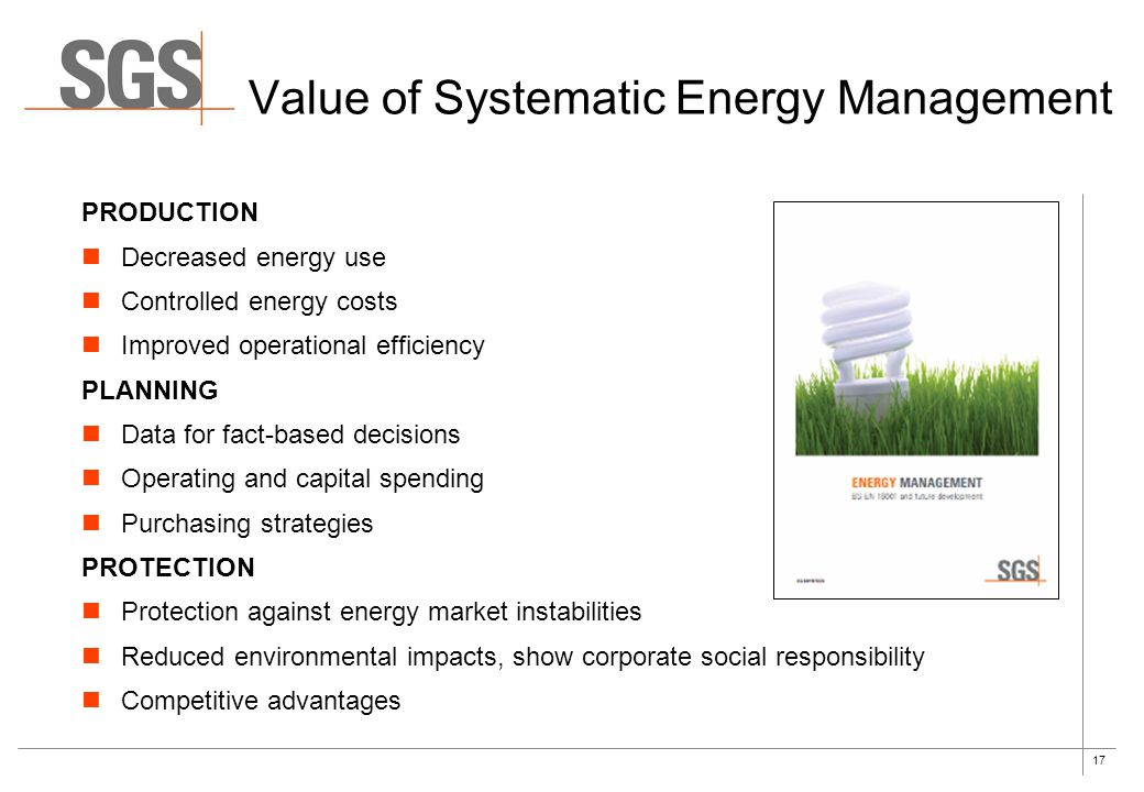 Value of Systematic Energy Management