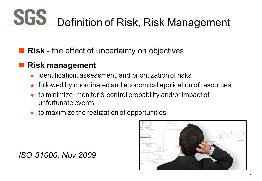Definition of Risk, Risk Management