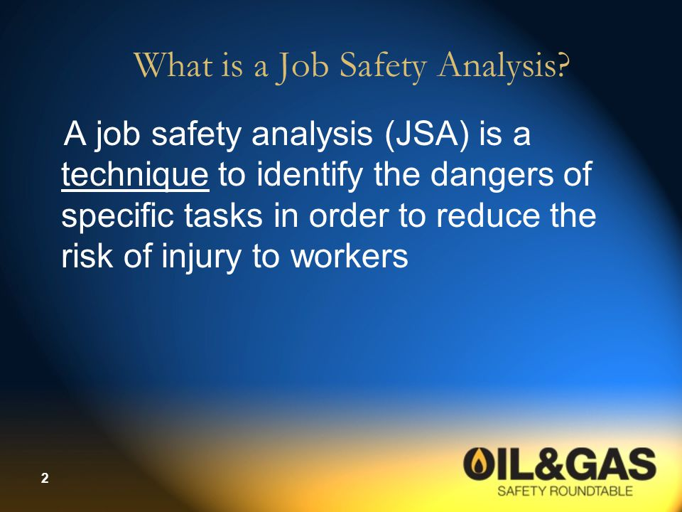 What is a Job Safety Analysis