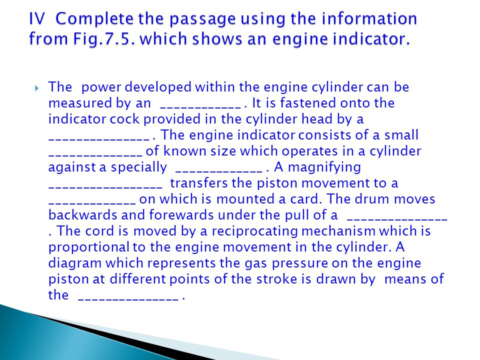 IV Complete the passage using the information from Fig. 7. 5