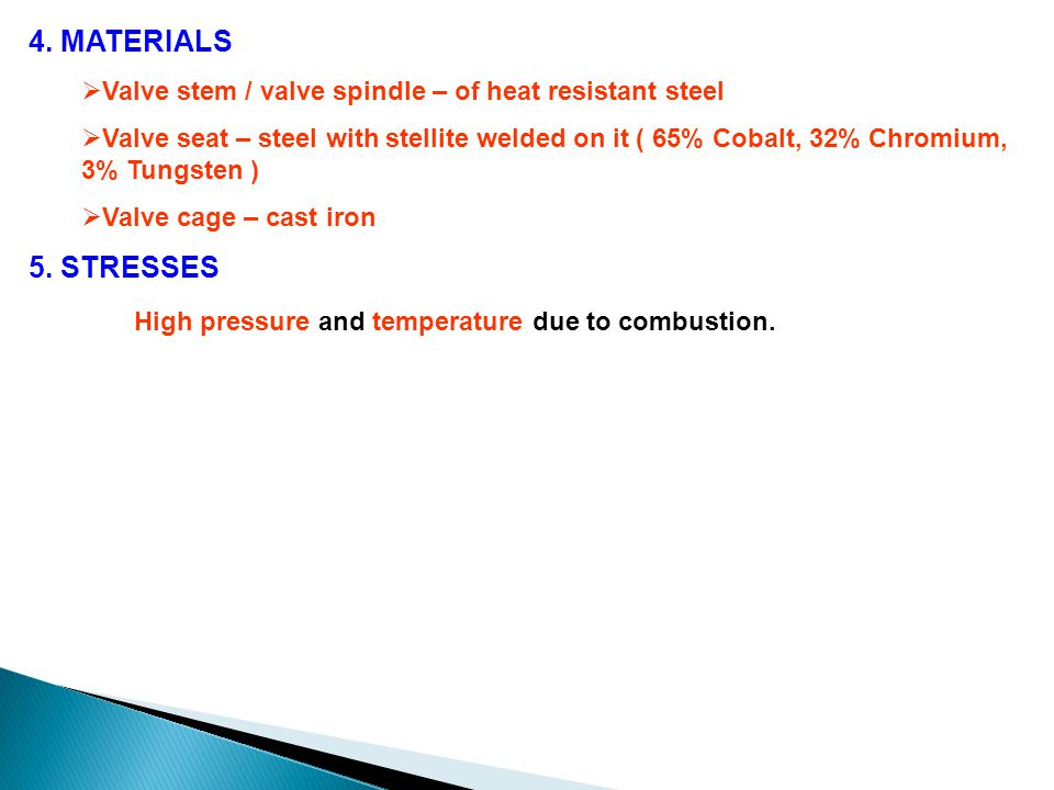 High pressure and temperature due to combustion.