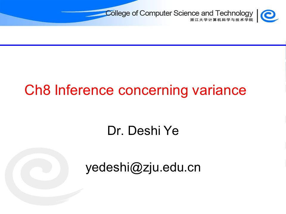 Ch8 Inference concerning variance