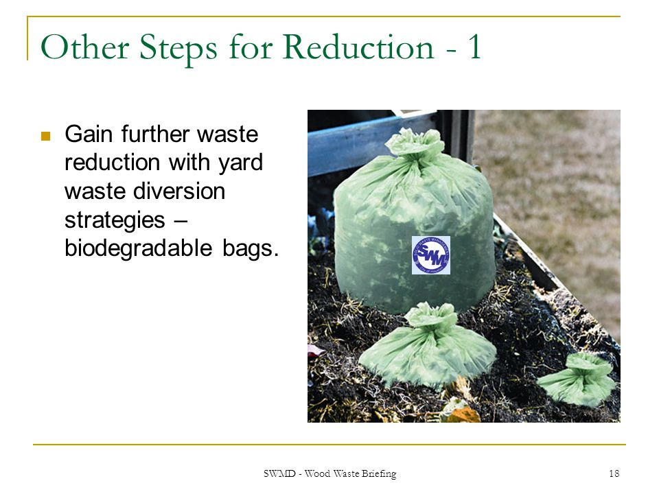 Other Steps for Reduction - 1