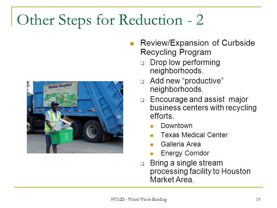 Other Steps for Reduction - 2