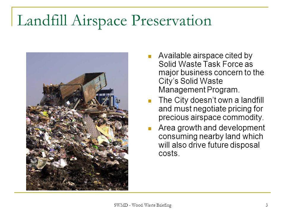 Landfill Airspace Preservation