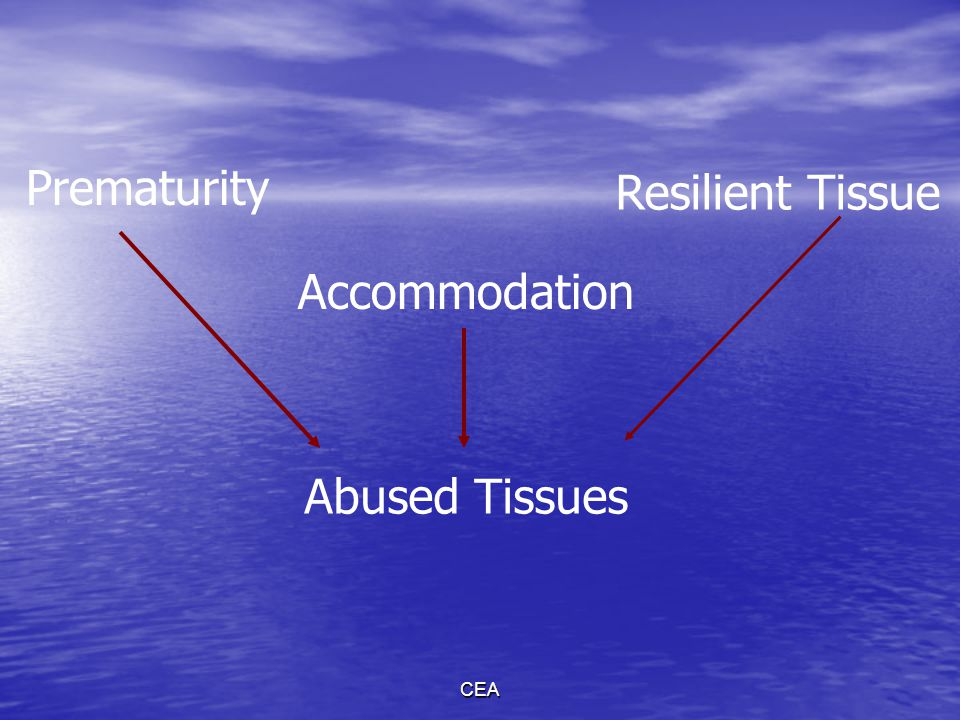 Prematurity Resilient Tissue Accommodation Abused Tissues CEA